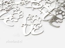 Sterling Zilveren Hanger- Love met Dierenpoot