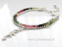 Sterling Zilveren Armband met Toermalijn- Kameleon