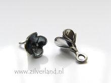 1 Stuk Sterling Zilveren Bali Kralenkapje met Pin