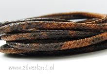 20cm Gestikt 4mm Leerkoord- Snake