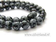8mm Sneeuwvlok Obsidiaan Edelstenen Kralen