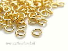 10 Stuks 1,20x6,0 Sterling Zilveren Montagering- Verguld