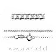 1,35mm Sterling Zilveren Collier Gourmet- 45cm- Gerhodineerd