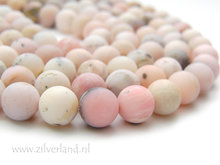 10mm Peruaanse Roze Opaal Edelstenen Kralen- Mat