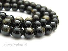 8mm Gouden Obsidiaan Edelstenen Kralen