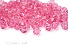 10 Stuks 4mm Swarovski Bicone Kristallen- Rose